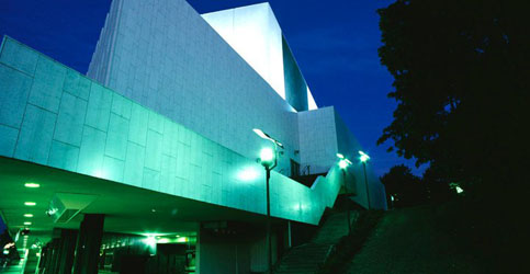 Finlandia Hall at night